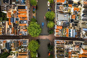 Amsterdam van bovenaf van Patrick Ouwerkerk