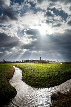 Jorwert, Friesland - sfeervol dorpsgezicht sur Keesnan Dogger Fotografie