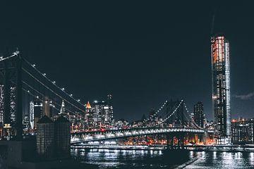 Stad bij Nacht van Milan Markovic
