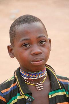 Jongetje van de Peulh uit noord Benin van