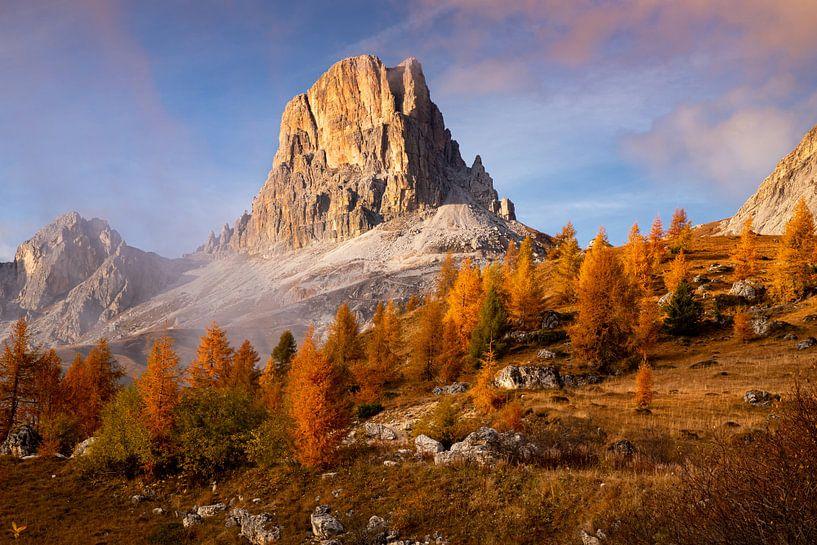 Gouden Dolomieten Landschap, Italië van Adelheid Smitt