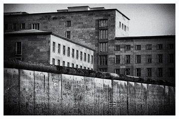Berliner Mauer schwarz weiß von Jaco Verheul