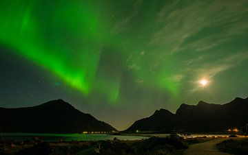 Noorderlicht Vesteralen Noorwegen van Harry Punter