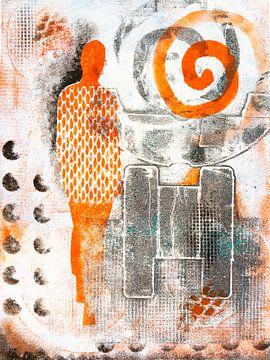 Orange Frau von Lida Bruinen