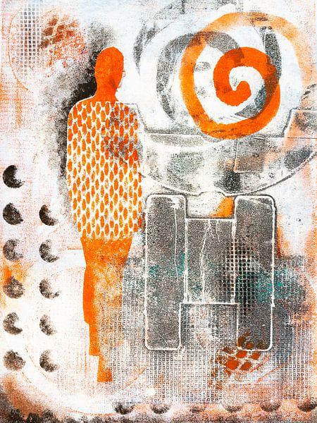 Oranje vrouw van Lida Bruinen