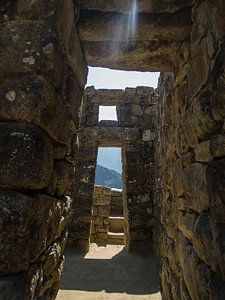Machu Picchu, stadsgezicht in dit wereldberoemde Unesco monument in Peru, Zuid Amerika