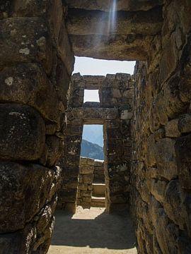 Machu Picchu, stadsgezicht in dit wereldberoemde Unesco monument in Peru, Zuid Amerika sur Martin Stevens
