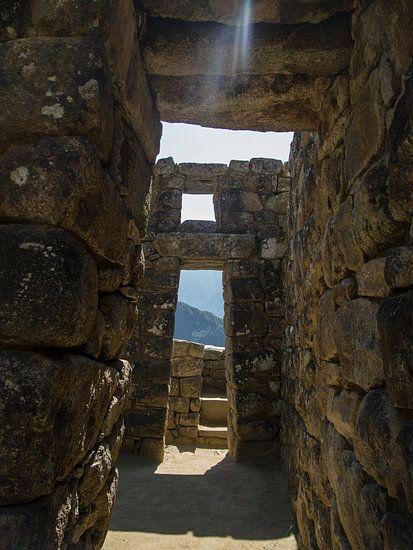 Machu Picchu, stadsgezicht in dit wereldberoemde Unesco monument in Peru, Zuid Amerika van Martin Stevens
