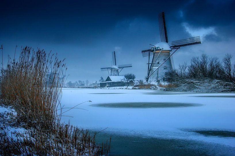 Winter windmolens van Ruud Peters