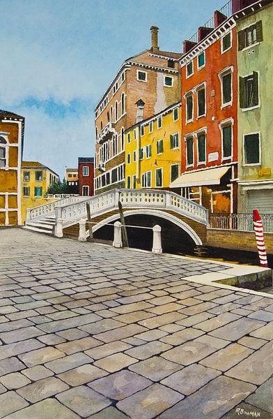 Venetië - Campo dei Frari   Schilderij van - Wereldkaarten.Shop -