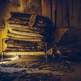 Stapelbed in slaapzaal van Tamara de Koning