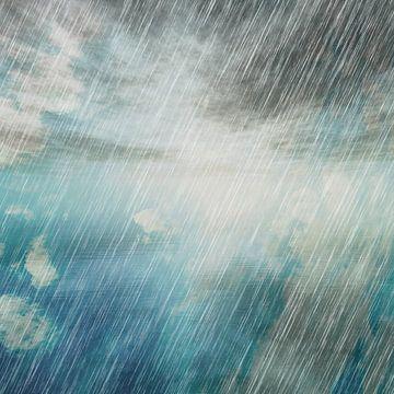Rainy Landscape N.2 van Olis-Art