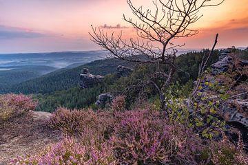 Sonnenaufgang im Elbsandstein Gebirge von CherriX_OutisdE