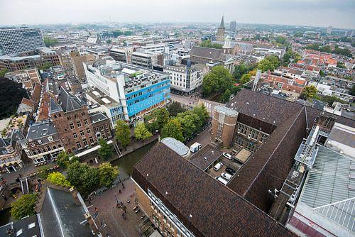 Uitzicht vanaf de Neudeflat op de binnenstad van Utrecht van
