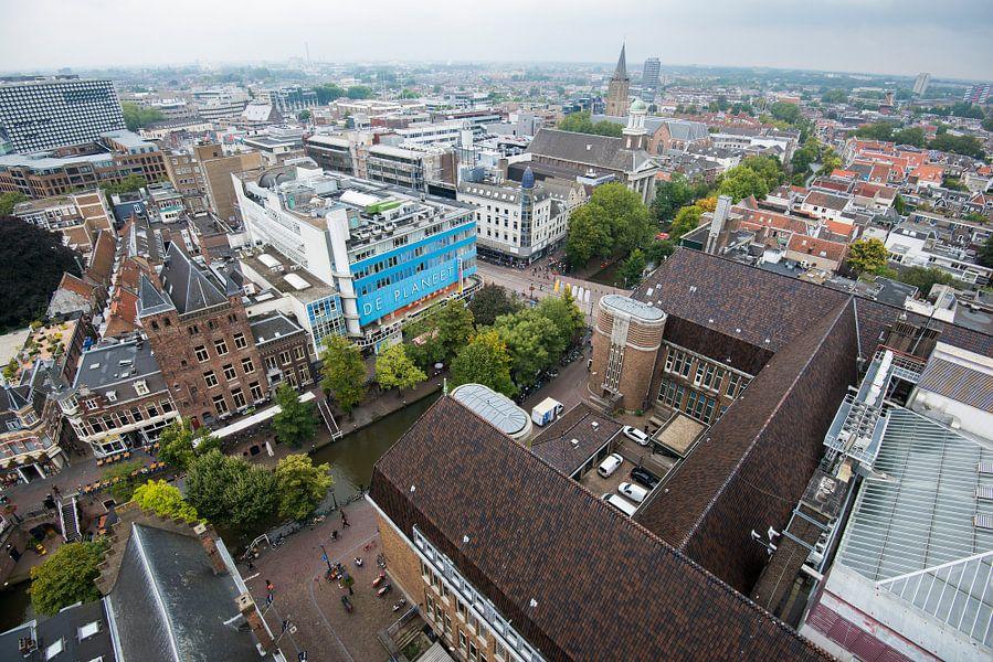 Uitzicht vanaf de Neudeflat op de binnenstad van Utrecht