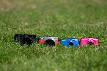4 camera's in the grass von Marco van den Arend