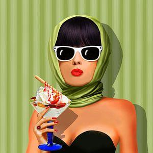 Liefde zomer, zomer, zon en ijs