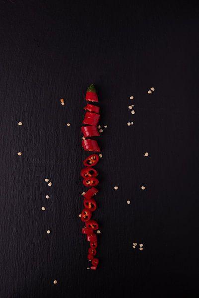 enkele peper 4 van 4 van Anita Visschers