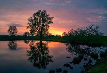 Zonsondergang 1 van Rick Giesbers