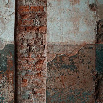 Raw beauty - verweerde muur van Johannes Schotanus