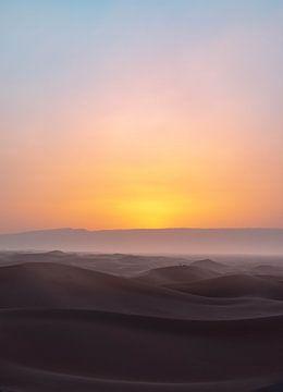 Magischer Sonnenuntergang Sahara von Jesse Barendregt