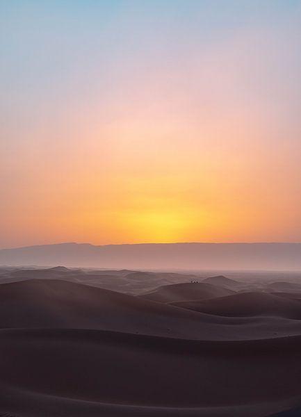 Magische zonsondergang Sahara van Jesse Barendregt