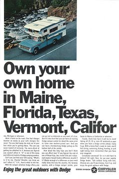 Dodge-Werbung 70er Jahre von Jaap Ros