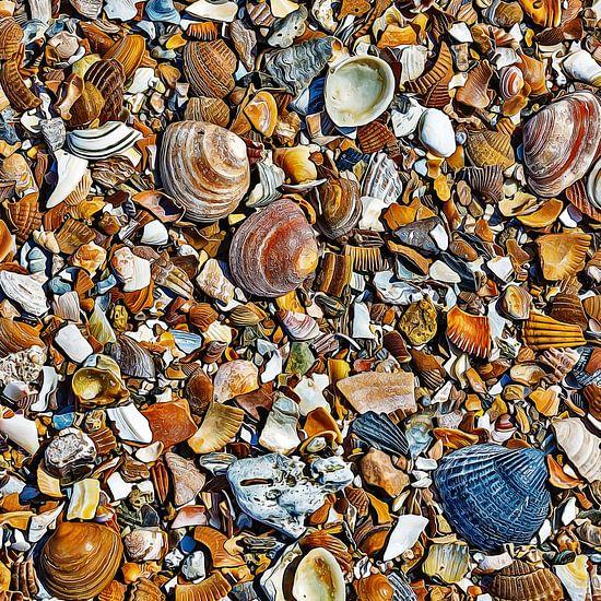 Honderden kleine kunstwerken op het strand