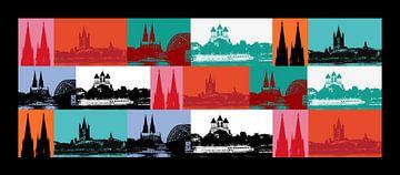 Köln Panorama von Gabi Siebenhühner