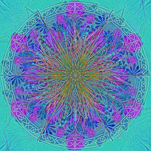 Caleidoscoop, blauwtinten