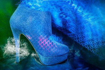 Blauer Schuh von Marijke de Leeuw - Gabriëlse