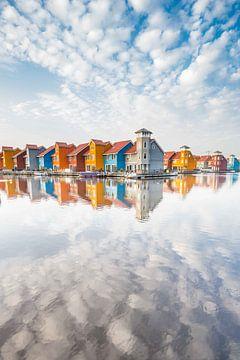 Paysage urbain Groningue, Pays-Bas sur Hilda Weges