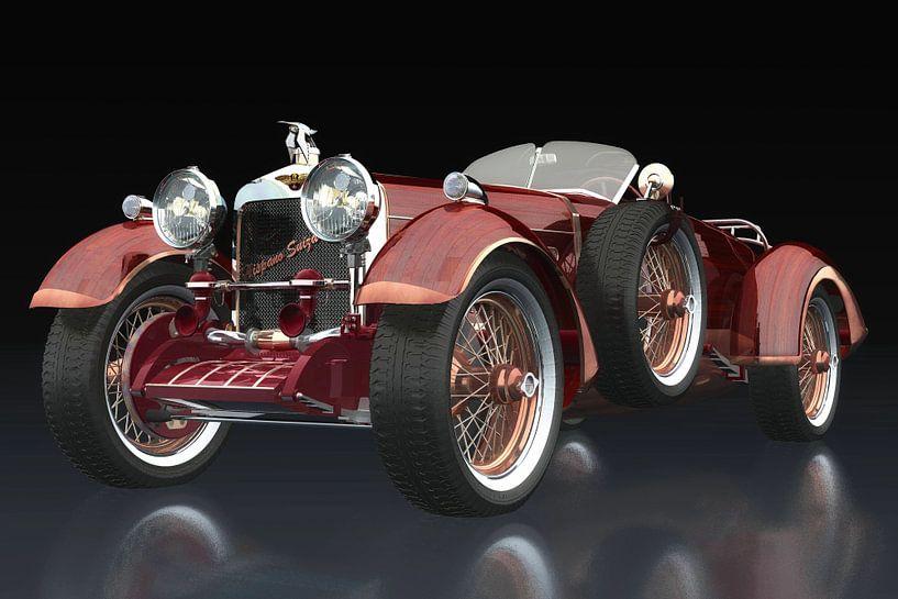 Hispano Suiza H6 Tulipwood driekwart zicht van Jan Keteleer