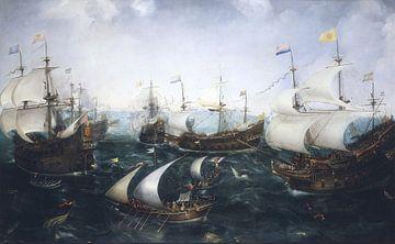 Niederlage der Spanier vor Gibraltar, Cornelis Claesz van Wieringen