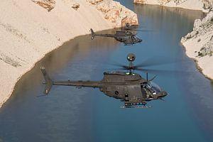 Kroatische Luchtmacht OH-58D Kiowa Warriors van