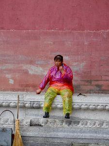 Chinese schoonmaakster in de Verboden Stad