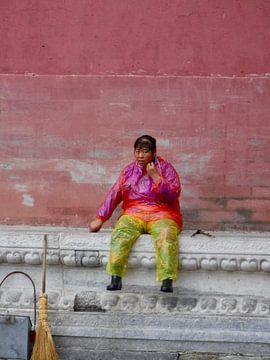 Chinese schoonmaakster in de Verboden Stad van Sylvia Bastiaansen
