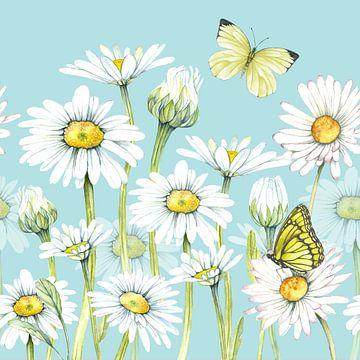 Margrieten in de lente van Geertje Burgers