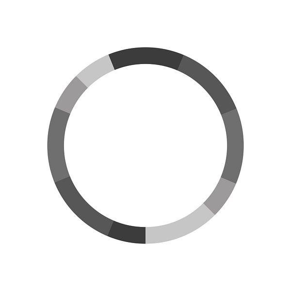 Monochromatische Kleurenschema Grijs van MDRN HOME