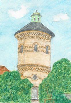 Oude watertoren Flensburg van Sandra Steinke