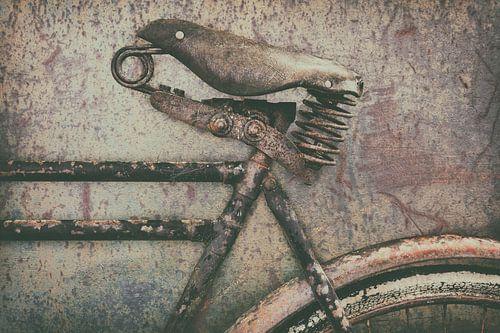 De oude transportfiets van