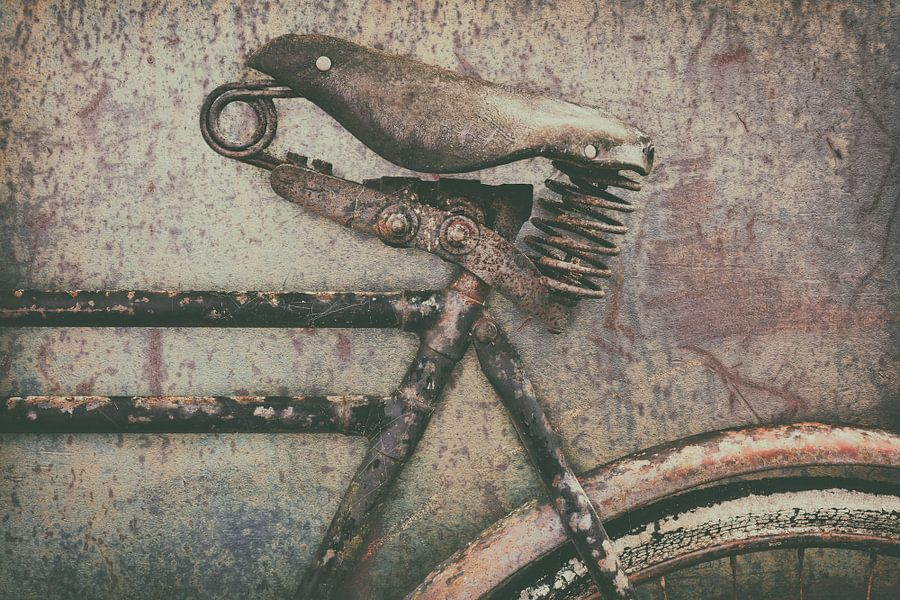 De oude transportfiets van Martin Bergsma