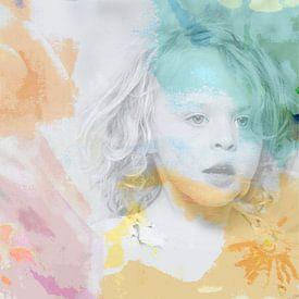 Het meisje Roos met bloem van Hanneke Luit