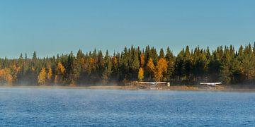 Watervliegtuigen bij Gällivare Zweden bij zonsopgang van Gilbert Schroevers