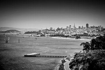 SAN FRANCISCO Bay | Monochrom von Melanie Viola
