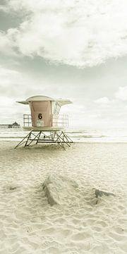 CALIFORNIA Imperial Beach | Vintage Panorama van Melanie Viola