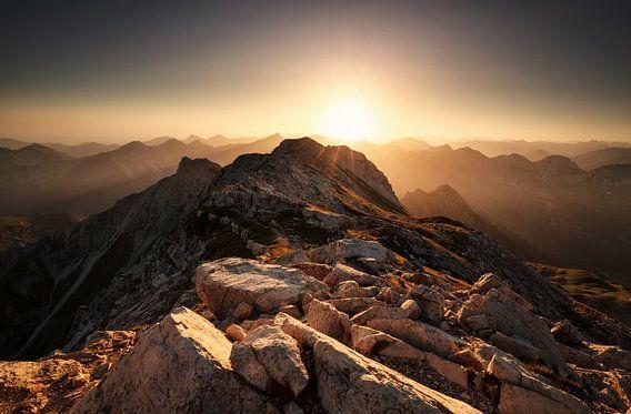 Sonnenaufgang Großer Daumen Allgäuer Alpen