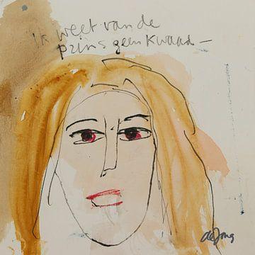 Janet, portret, avatar von Leo de Jong