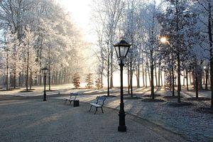 Winter op voorplein van Paleis Het Loo. van Fred Fiets