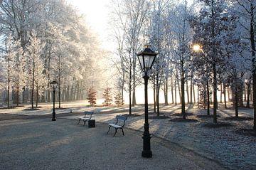 Winter op voorplein van Paleis Het Loo. von